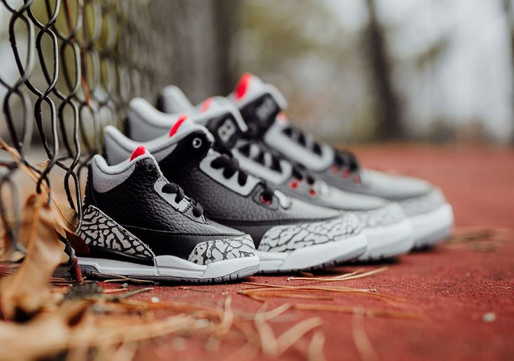 Air Jordan 3 Black Cement  Full Sizing  Price Info #thatdope #sneakers #luxury #dope #fashion #trending