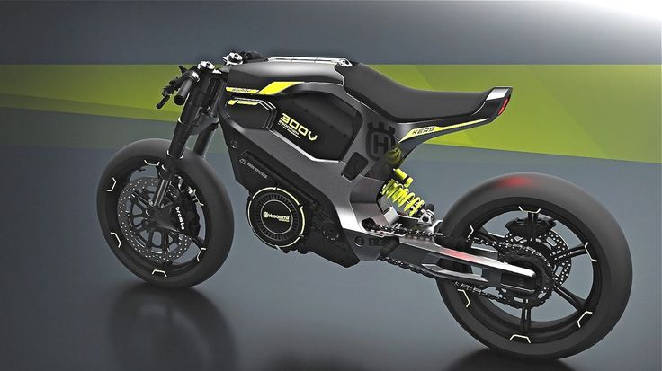 HUSQVARNA CONCEPT BIKES: THE FUTURE LOOKS UNCOMFORTABLE Dominic Krig's all-electric Husqvarna concept bike looks like a giant Eveready battery on wheels. It says it has KERS