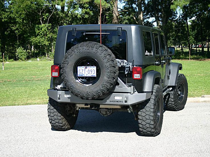 schrocworks jeep jk tire carrier rear bumper made in usa jeep wrangler jk mods 2 door. Black Bedroom Furniture Sets. Home Design Ideas