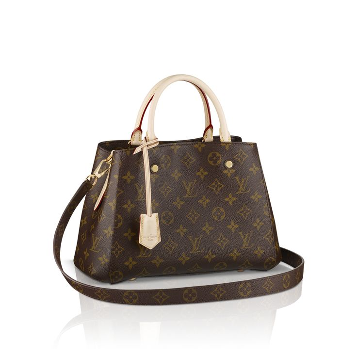 Discover Louis Vuitton Montaigne BB The Montaigne BB bag in iconic Monogram  canvas combines a smart, structured exterior with a…