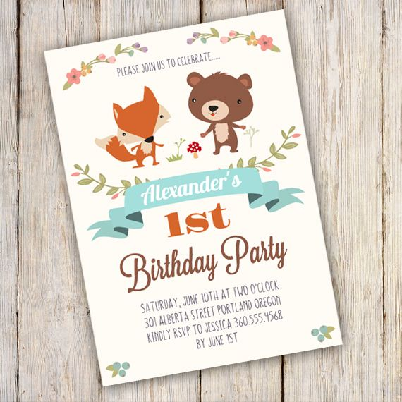 Best Birthday Party Invitations Images On   Printable