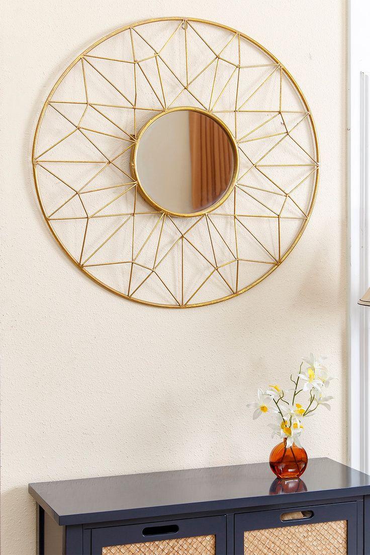 Monte Round Gold Wall Mirror on @HauteLook