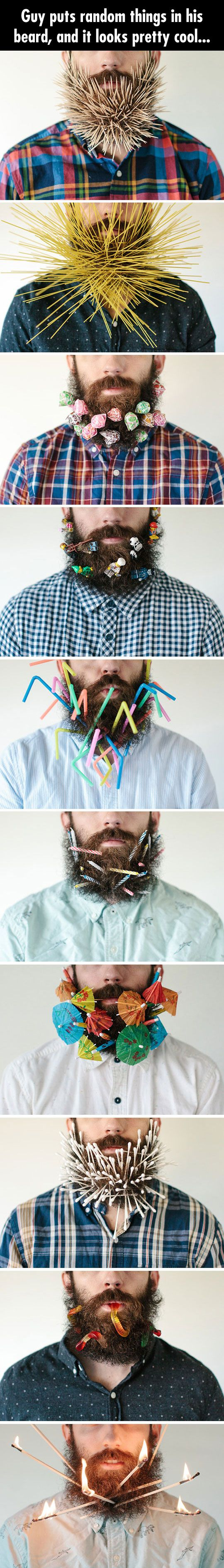 If you are bored and have a beard... I should do this with my hair...