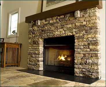 Fireplaces living rooms and rustic on pinterest for Fireplace half stone