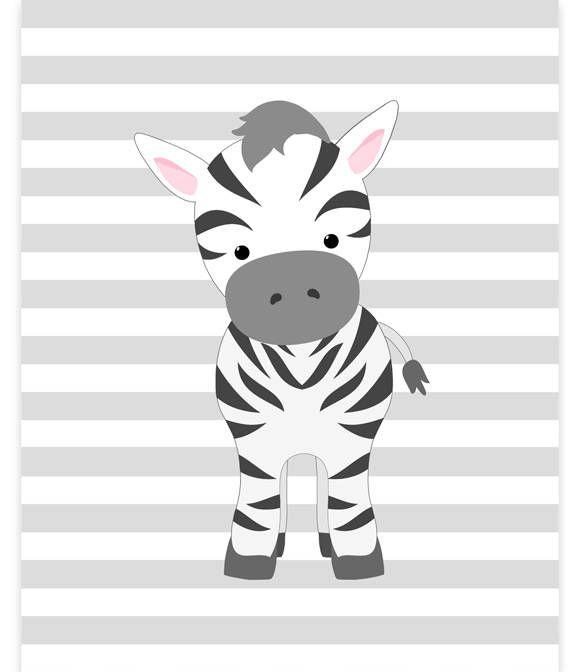 Zebra Nursery Art, Nursery Wall Art, Safari Nursery Decor, Baby Zoo Decor, Baby Girl Room, Baby Shower Gift, Baby Room Decor, Jungle Decor by SweetPeaNurseryArt on Etsy