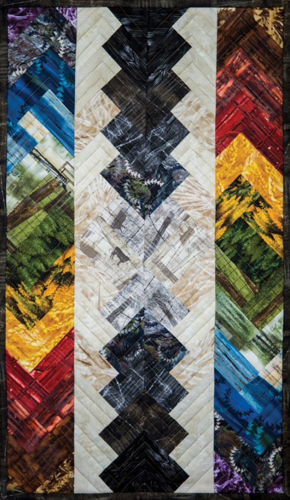 Braid Quilt Pattern Table Runner : The Reclaimed West - Braided Table Runner - by Judy Niemeyer for Timeless Treasures Fabrics ...