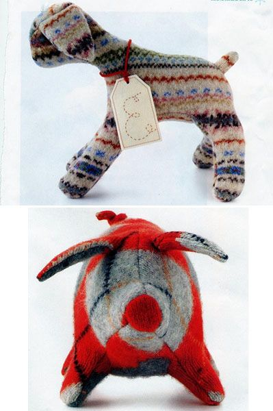 old sweater stuffed animals