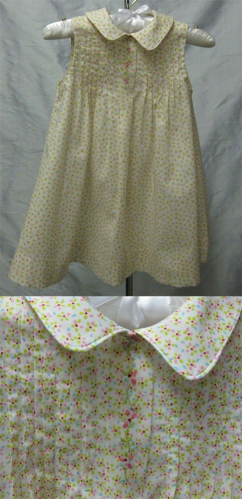 Very Summery!  Collars, Etc Tuck dress pattern