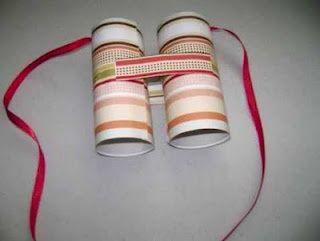 Portal de Manualidades: Manualidades para niños/ recicla rollos de papel haciendo prismaticos