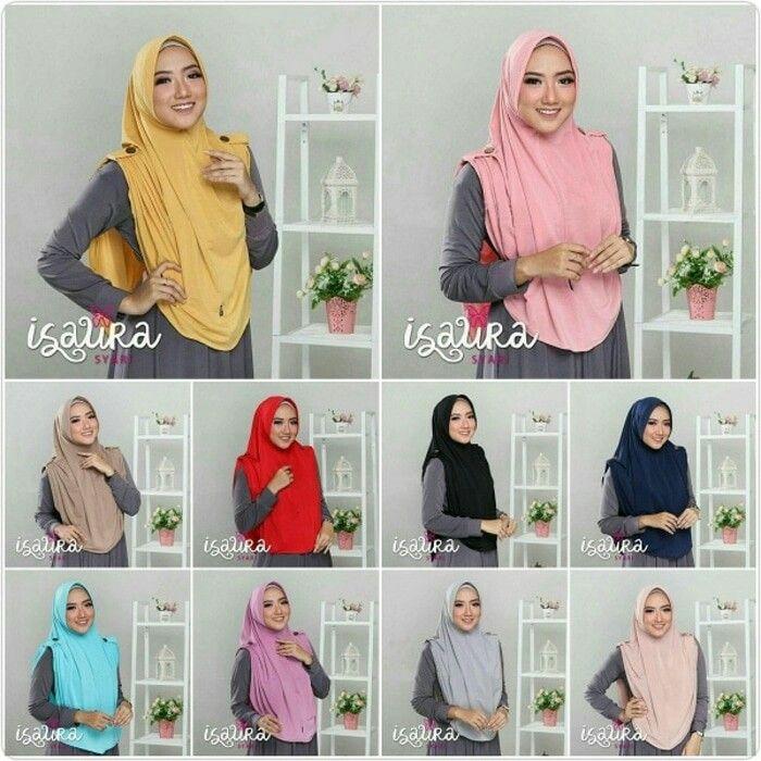 Jilbab Instan Hijab Isaura Syar I Jersey Jilbab Instant Model Isaura Versi Syar I Lebih Panjang Dengan Pad Antem Anti Hijab Designs Jilbab Syar I Jilbab