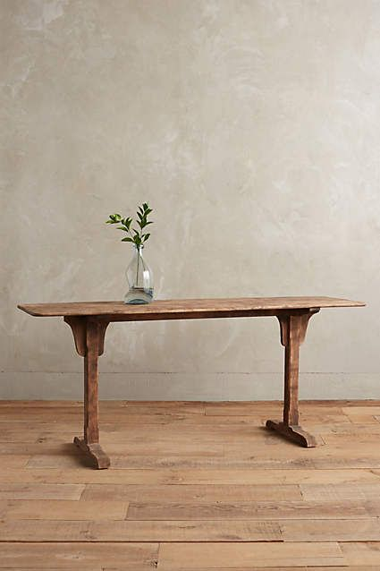 Burnished Wood Console - anthropologie.com