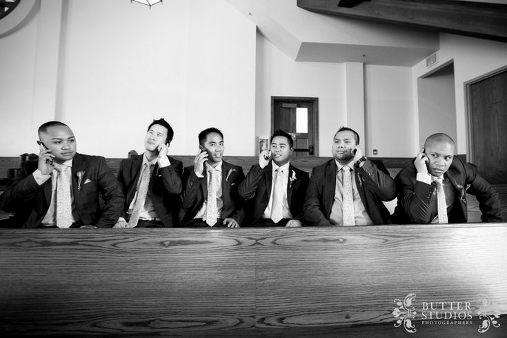 Holla' at your groomsmen...