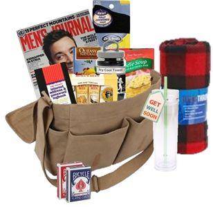 Cancer Patient Gift Baskets Mens Messenger Bag Chemo Care