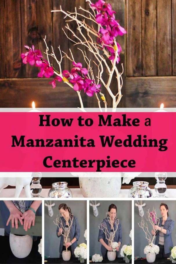 Building A Manzanita Wedding Centerpiece [DIY] - Inspired Bride