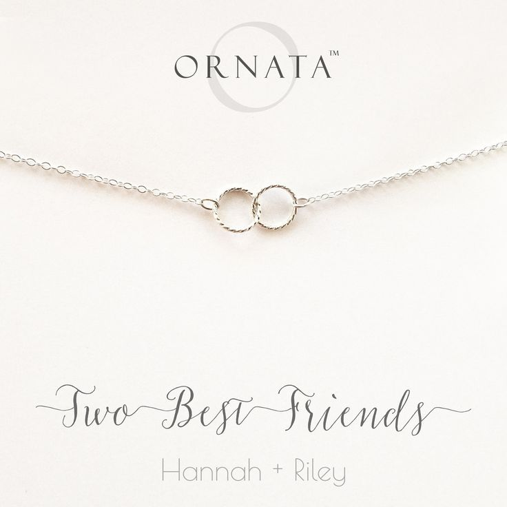 TWO BEST FRIENDS PERSONALIZED STERLING SILVER NECKLACES FRIEND & SISTER JEWELRY BEST FRIENDS NECKLACE