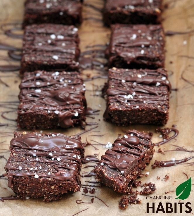 Raw Chocolate Salted Walnut Brownies.  A super quick and nourishing dessert or snack to whip up that includes probiotics and is packed full of good quality fats, proteins, nutrients, minerals and antioxidants.