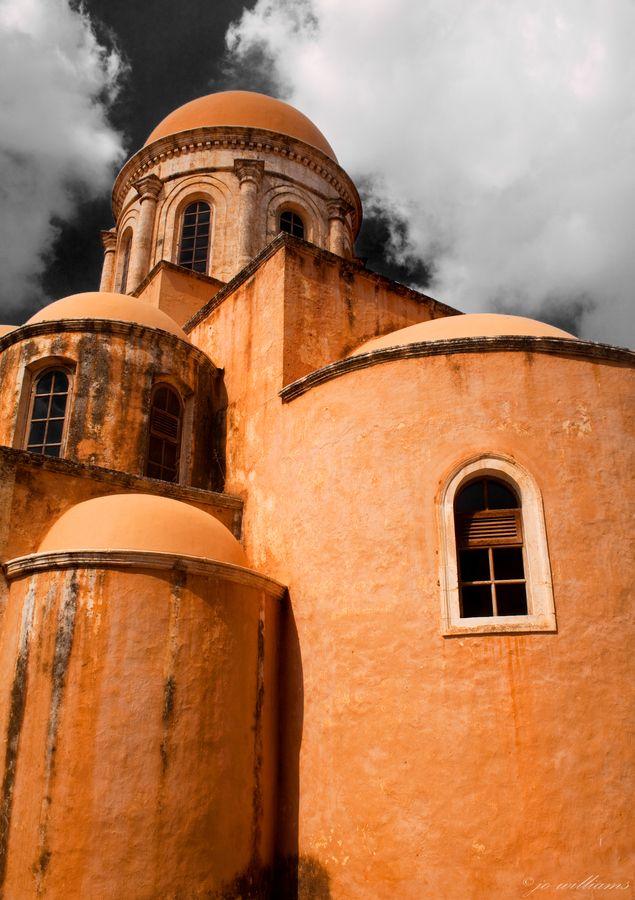 The main church of a greek Monastery in Crete #Greece #travel #tourism #kitsakis