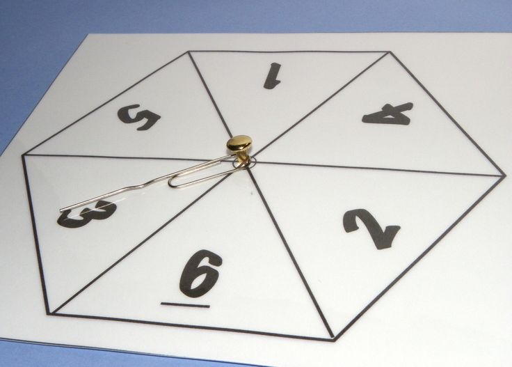 Free printable Number Spinners for Maths. Four different versions available.