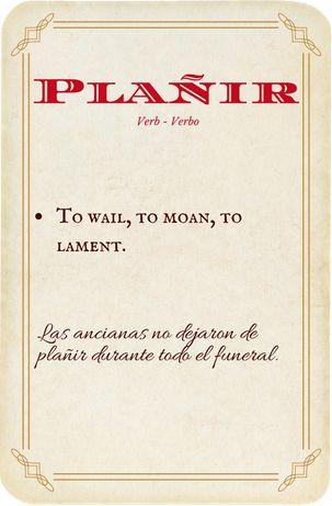 Plañir, verbo - verb