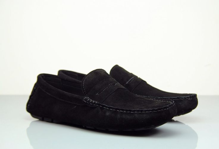 Fane Flap Black Suede Loafers. #institchu #menswear #mensstyle #suedloafers
