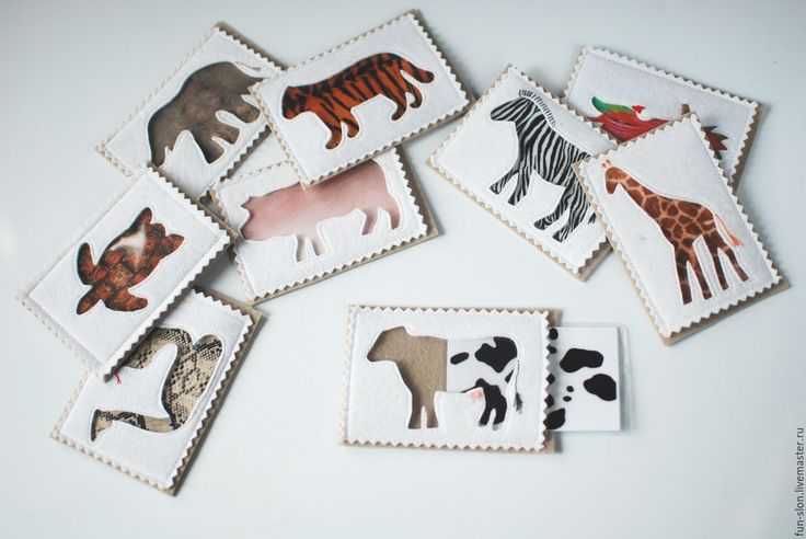 Купить Развивающая игра Окрас животных - развивающая игрушка, игрушка из фетра, мемори, Пазл
