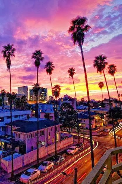 Los Angeles California...beautiful sunset shared by Sebastian Flachs