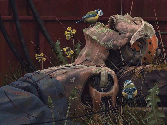 Photo: Rust in peace...  (Artwork by Simon Stålenhag)