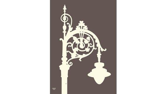 Irish Street Lamp Print Graphite The Perfect By Cloverrua On Etsy Street Lamp Print Lamp