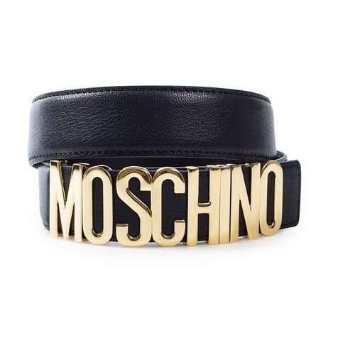 100% Authentic Vintage 1980's Moschino Redwall Leather Logo Belt in unworn near new conditionLeather belt from MOSCHINO with gold colored logo.Closes with snap fastening allowing five different lengths. Made of genuine leather. Made In ItalyGold letters are shiny and bright with no major scratches or wearSize Italian 44First hole is at  81cm, last hole at 87cmWidth: 3.5cmLetters are hallmarked Redwall on the back of each gold letter