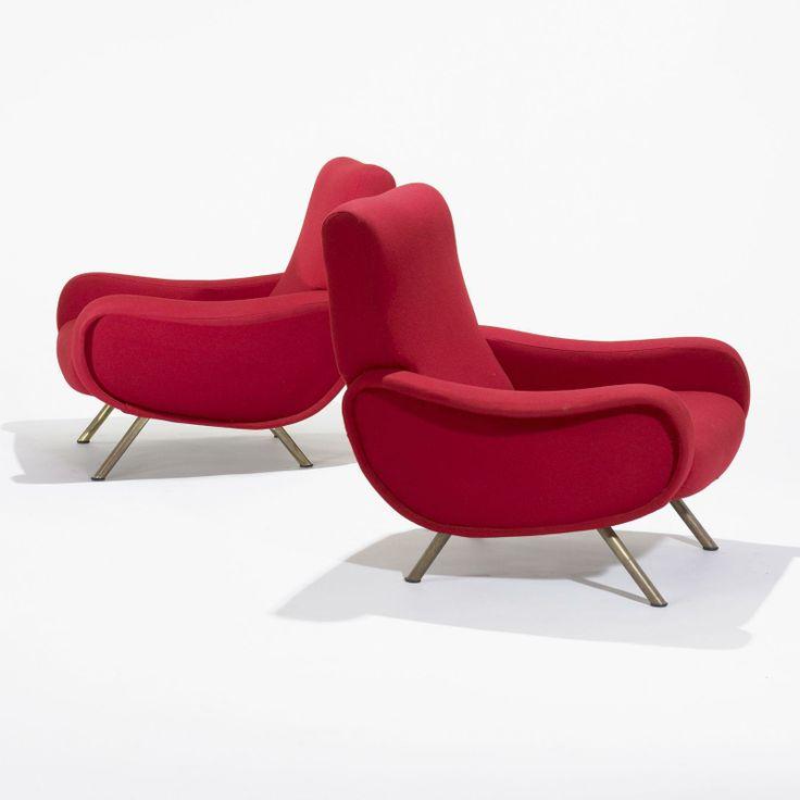 Marco Zanuso Lady chairs, pair