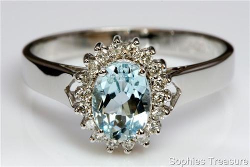 : Vintage Engagement Rings, Vintage Jewellery, Vintage Rings, Diamonds Rings, White Gold Rings, Wedding Rings, Hair Sliding, Aquamarine, Vintage Jewelry