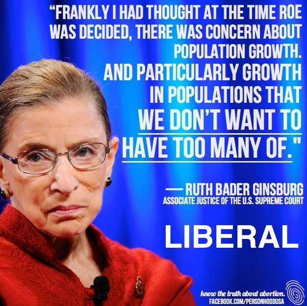 Racist.  Promoter of Eugenics.  Pretty much the Margaret Sanger of today. And people follow these liberals. Unreal