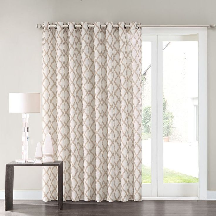 Grommet curtains pattern grommet curtain single - 1000 Ideas About Patio Door Curtains On Pinterest Door