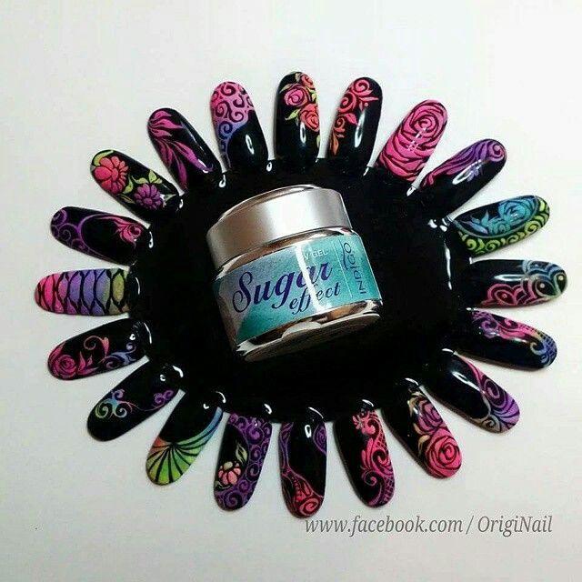 Sugar effect gel #sugareffect #powder #colors #loveindigonails #nailart #torino #nailartist #indigonailspiemonte #indigonails #colorful