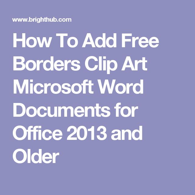 Best 25+ Clip art microsoft ideas on Pinterest Borders free - free border for word