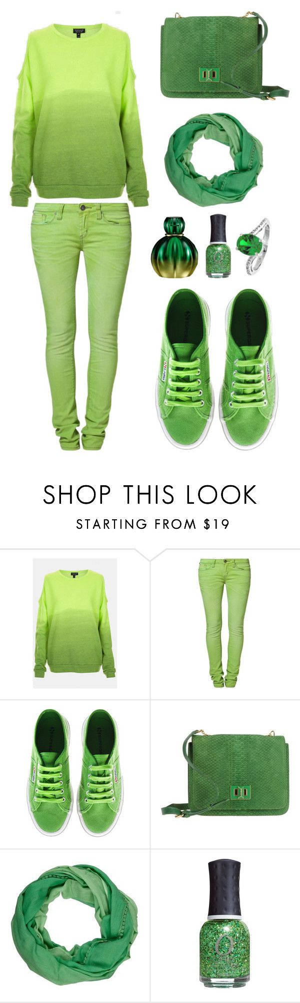 """""""ɢᴙᴇᴇᴎ"""" by pigeon15 ❤ liked on Polyvore featuring Topshop, One Green Elephant, Superga, Emilio Pucci, Passigatti, ORLY and Reeds Jewelers"""