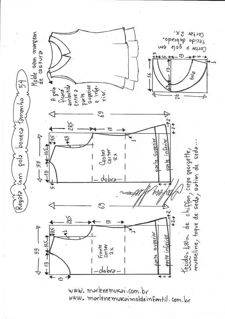 Blusa regata com gola boneca | vestidos | Pinterest | Sewing, Sewing ...