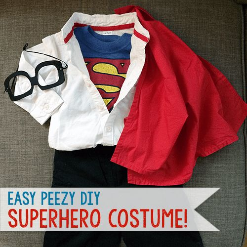 Easy DIY Superhero Superman Toddler Costume - just one of many crafty inspirations courtesy of #PoppyCatUS! #spon