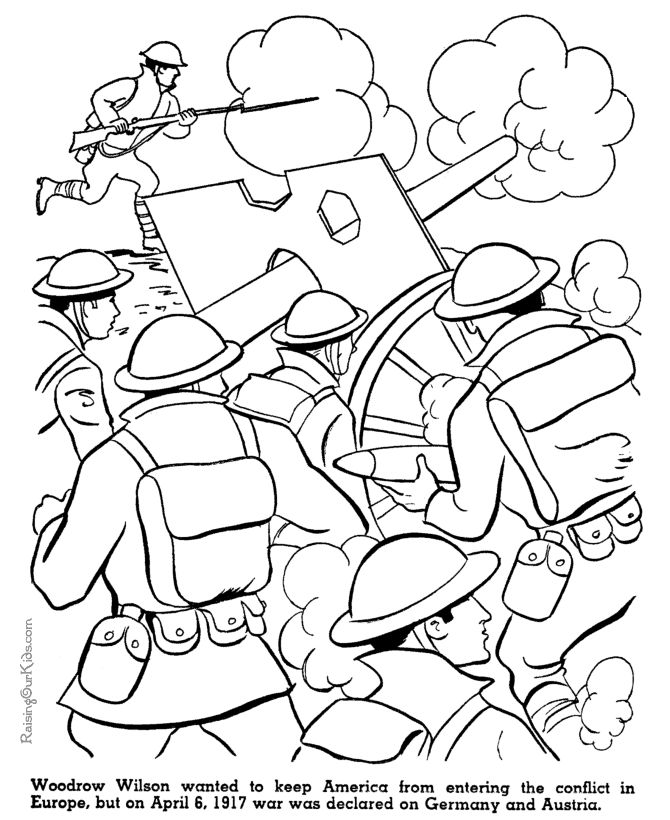 american history for kid coloring pages world war i wwi