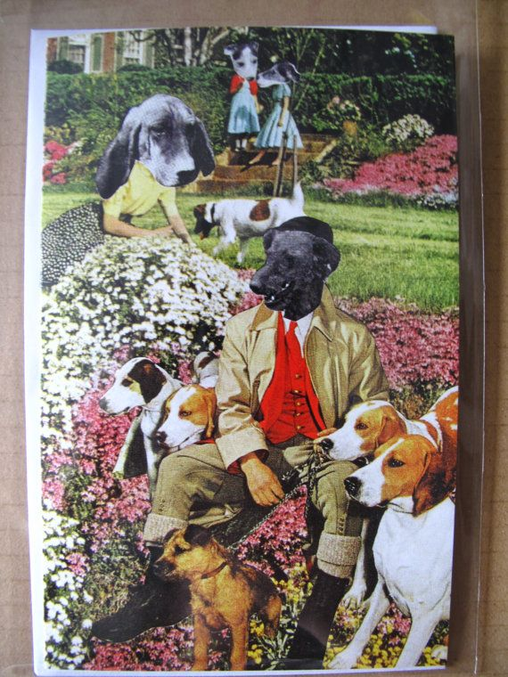 Collage Print Greeting Card Call Me Master by by ArtFarmEtsy