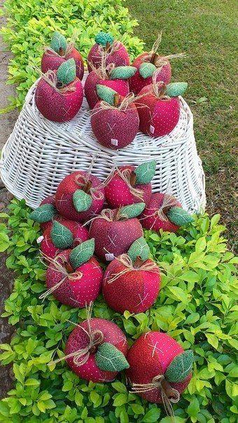 Двор-декор. Рукоделие и творчество: Яблочки в саду. Выкройка яблока