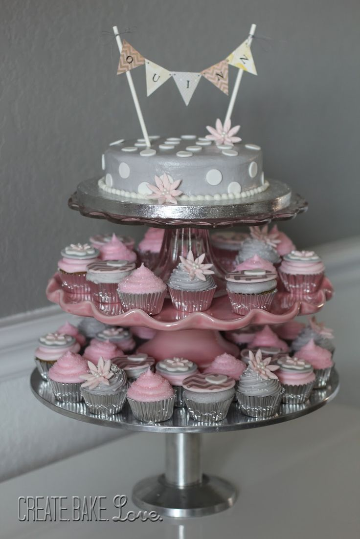 Create. Bake. Love.: Pink and Grey Baby Shower | Baby ...
