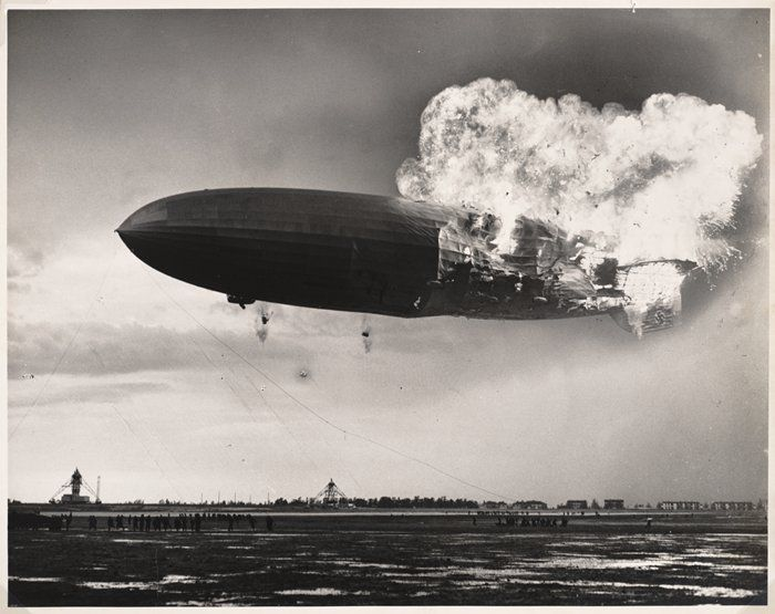 Hindenburg Zeppelin 1937 (My friend was just telling about this the other day.