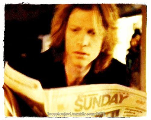 "Jon Bon Jovi circa 1994. @loopyloujovi   Tumblr - ""Is it Sunday already!"""
