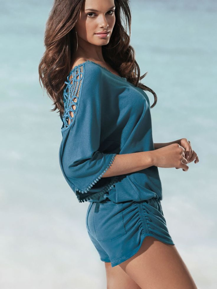 L*Space 2012, Callisto Jumper, Dark Teal Romper, Beachwear