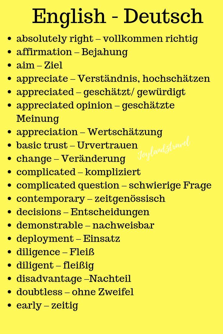 Language in german