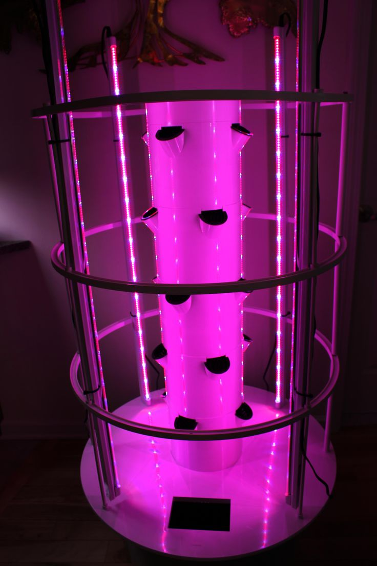 Pink Light Aeroponics Aeroponic Indoor Tower Garden