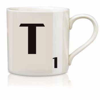 Scrabble Mug T: Scrabble mugs – collect the set for when you have 25 friends round for tea.