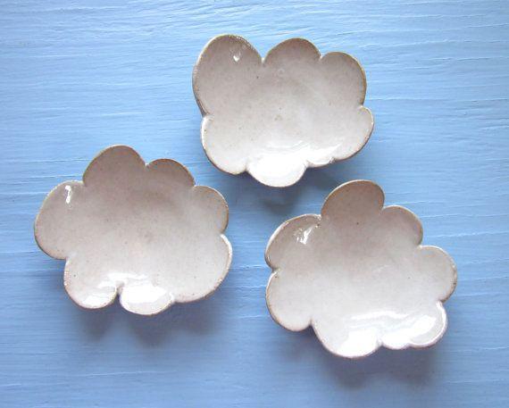 platos de cerámica nube por JDWolfePottery en Etsy