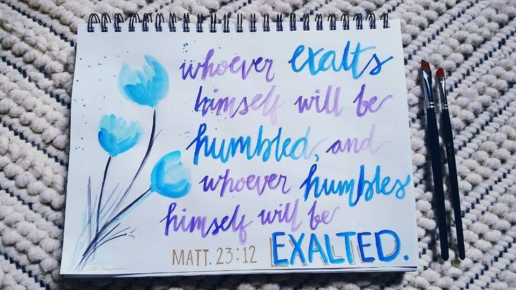 "#30daysofbiblelettering ----------------------- here is my first bible verse lettering which reflects todays's sabbath school lesson review (read ""the Greatness of Humility"" in the Seventh-day Adventist sabbath school lesson quarterly May 22 2016). It's not bad to aspire to be great and to do great things but sometimes we tend to do ""greatness"" in a way that worldly principles comes first before God's principle of being great as what Jesus said in Matt.18:4 ""Whoever humbles himself as this…"